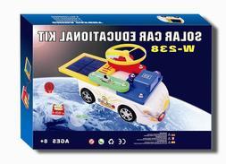 Snap on Solar Educational Car Kit, solar or battery powered