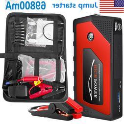 12V Car Jump Starter Portable USB Power Bank Battery Booster