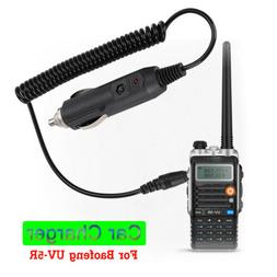 Walkie Talkie Battery Car Charger Adapter Cable Cord for Bao